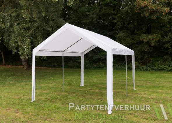 Partytent 3x4 meter schuin voorkant huren - Partytentverhuur Eemland
