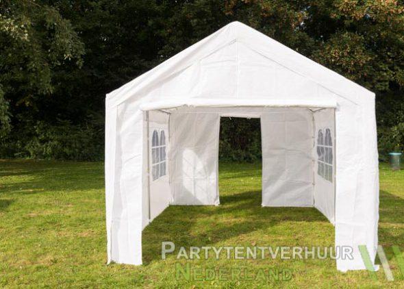 Partytent 3x4 meter voorkant met deur huren - Partytentverhuur Amersfoort