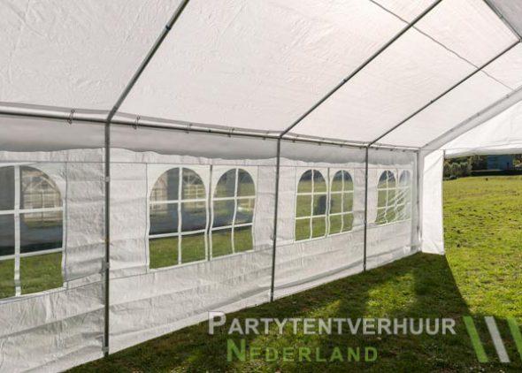 Partytent 4x8 meter binnenkant schuin huren - Partytentverhuur Amersfoort