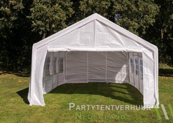 Partytent 4x8 meter voorkant huren - Partytentverhuur Amersfoort