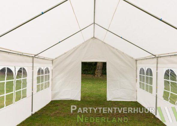 Partytent 4x6 meter voorkant met deur huren - Partytentverhuur Amersfoort