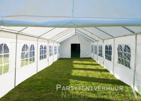 Partytent 6x12 meter binnenkant met deur huren - Partytentverhuur Amersfoort