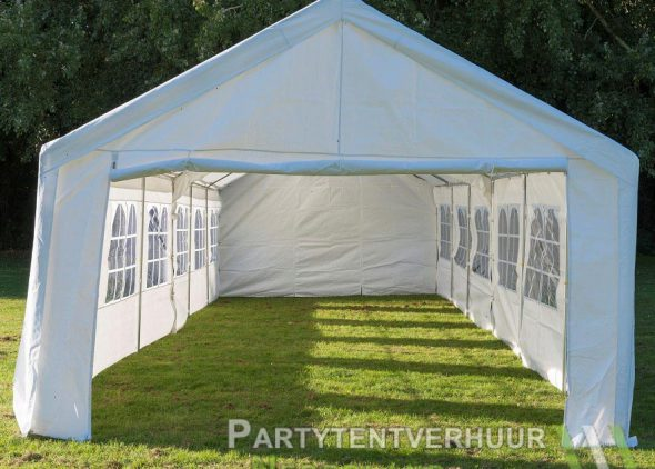 Partytent 6x12 meter voorkant huren - Partytentverhuur Amersfoort