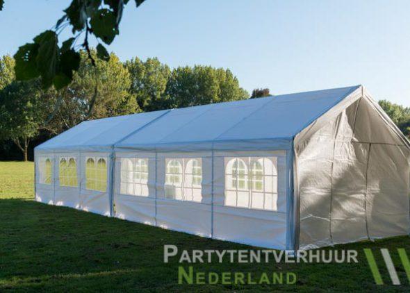 Partytent 6x12 meter zijkant links huren - Partytentverhuur Amersfoort
