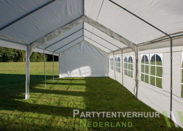 Partytent 6x12 meter zijkant links open huren - Partytentverhuur Amersfoort