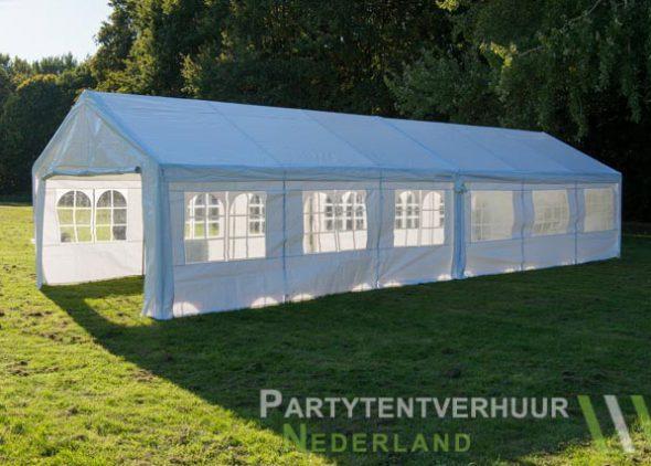 Partytent 6x12 meter zijkant rechts huren - Partytentverhuur Amersfoort