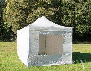 Easy up tent 3x4,5 meter voorkant schuin huren - Partytentverhuur Eemland