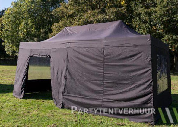 Easy up tent 3x6 meter zijkant met deur huren - Partytentverhuur Amersfoort