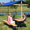 Marktkraam met biertafel huren Eemland blauw
