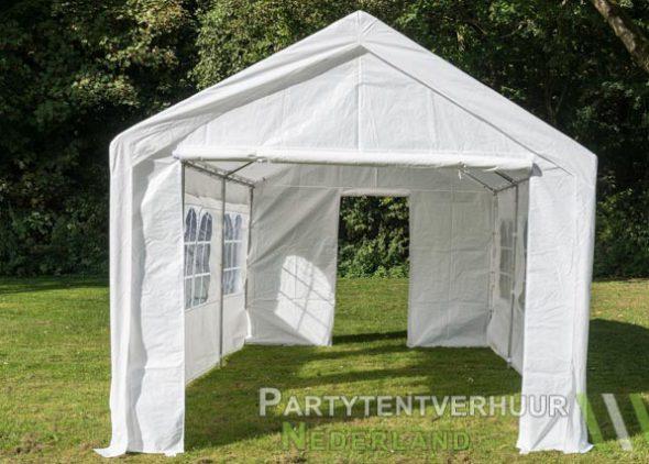Partytent 3x6 meter voorkant met deur huren - Partytentverhuur Amersfoort