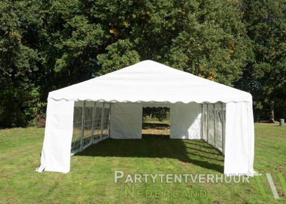 Partytent 5x10 meter voorkant huren - Partytentverhuur Amersfoort