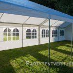Partytent 6x12 meter zijkant rechts open huren - Partytentverhuur Amersfoort